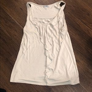 Cream sleeveless Express shirt